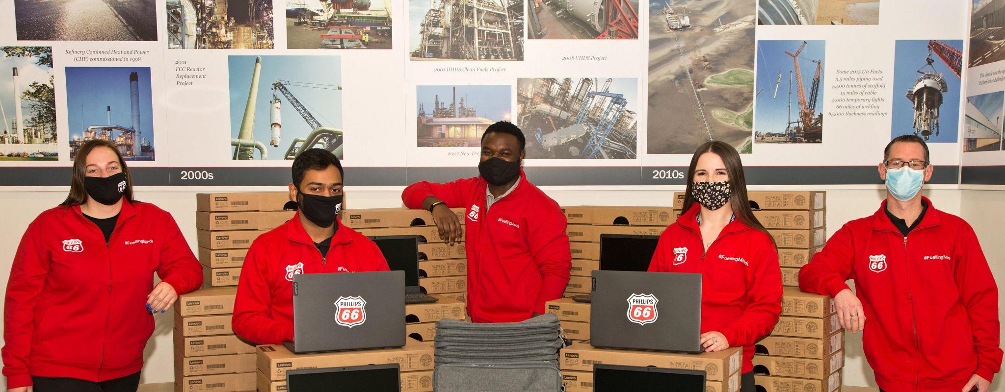 Humber Refinery Volunteers laptop delivery.jpg