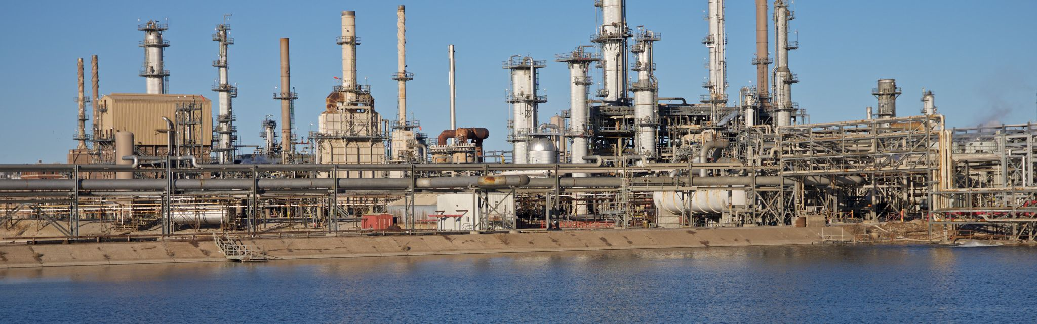 Daytime shot of the Ponca City Refinery