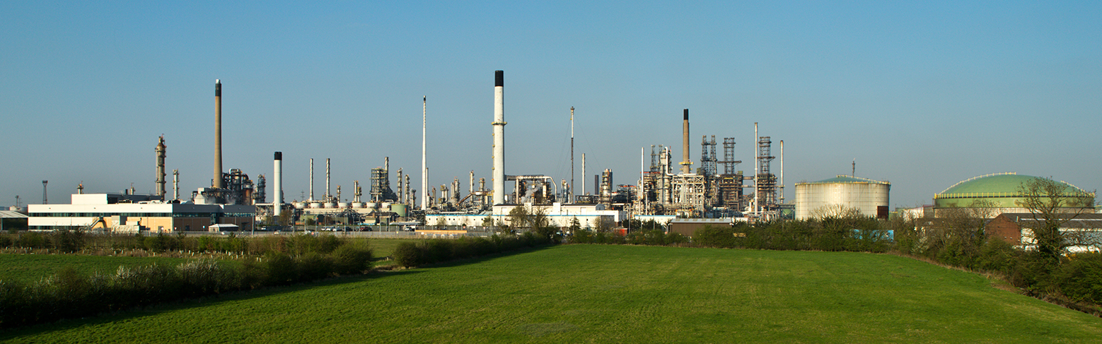 Daytime shot of the Humber Refinery